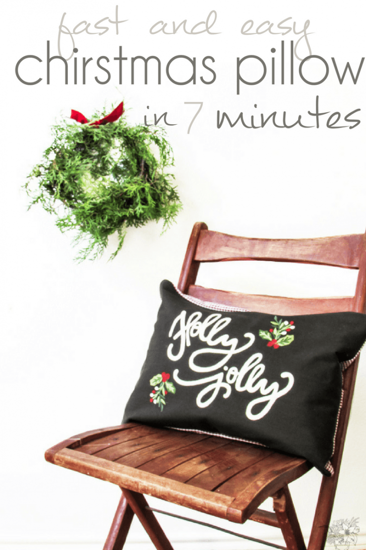 Fast and Easy Christmas Pillow in 7 Minutes
