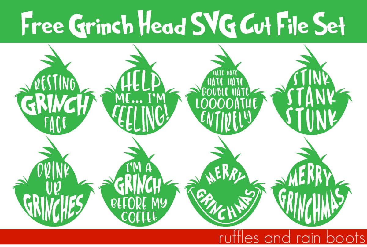 Christmas Grinch Svg.Free Grinch Svgs Resting Grinch Face Svg And So Many More