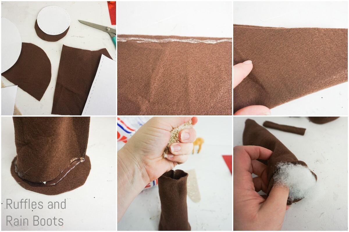 photo tutorial of how to make a reindeer gnome body