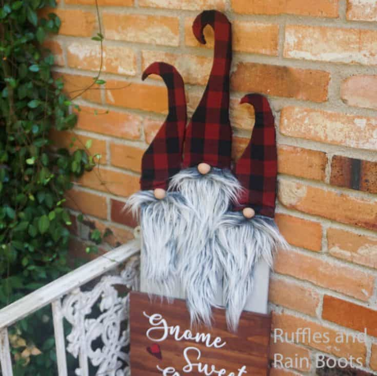 Gnome Sweet Gnome Porch Sign