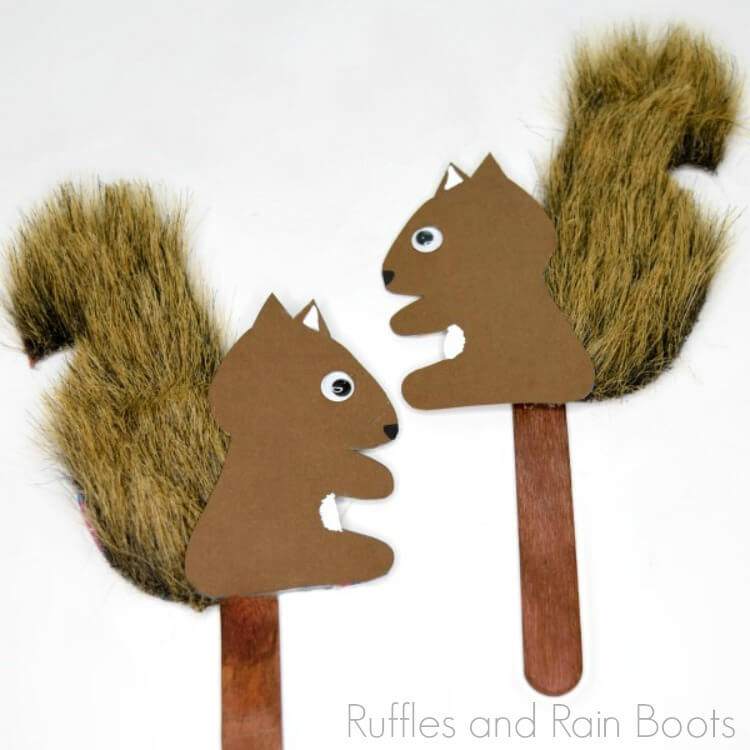 Adorable Squirrel Puppets