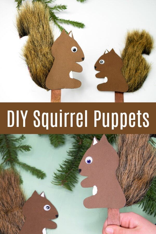 DIY Squirrel Puppets Easy Pretend Play