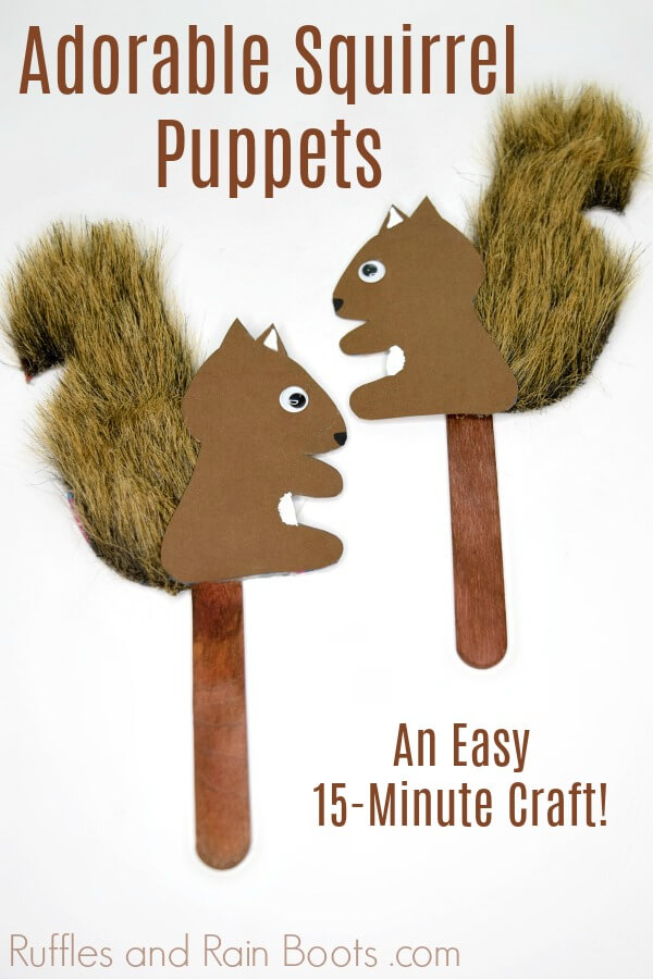 Easy Squirrel Puppets Woodland Animal Puppet