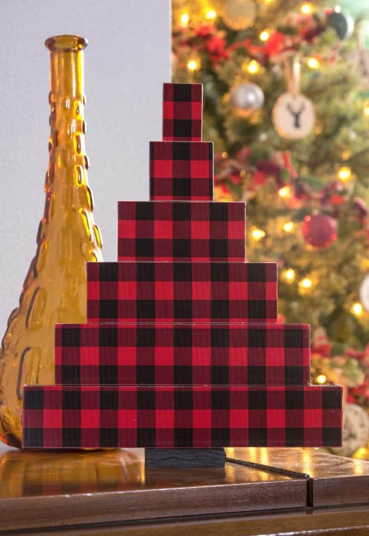 Farmhouse Style Small Wooden Christmas Tree