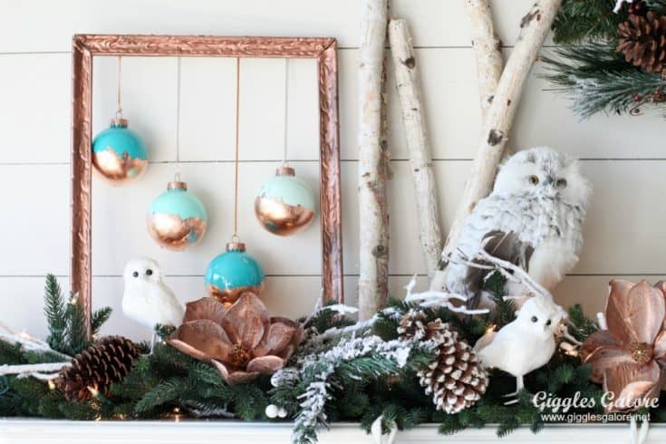 DIY Painted Copper Leaf Christmas Ornaments