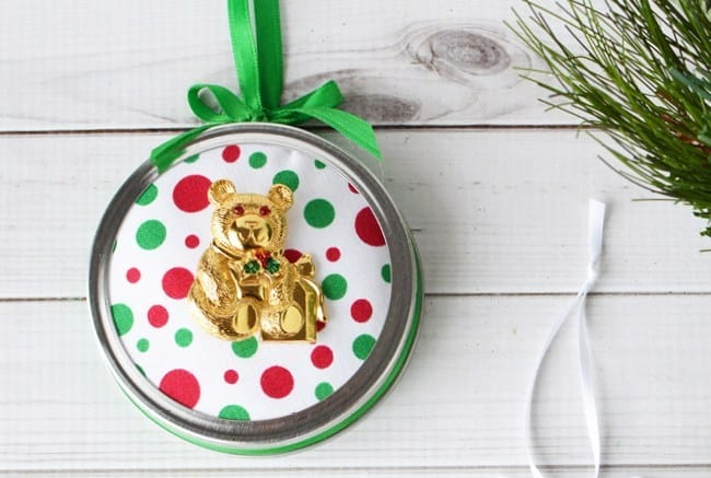 Mason Jar Ornaments with Upcycled Broaches
