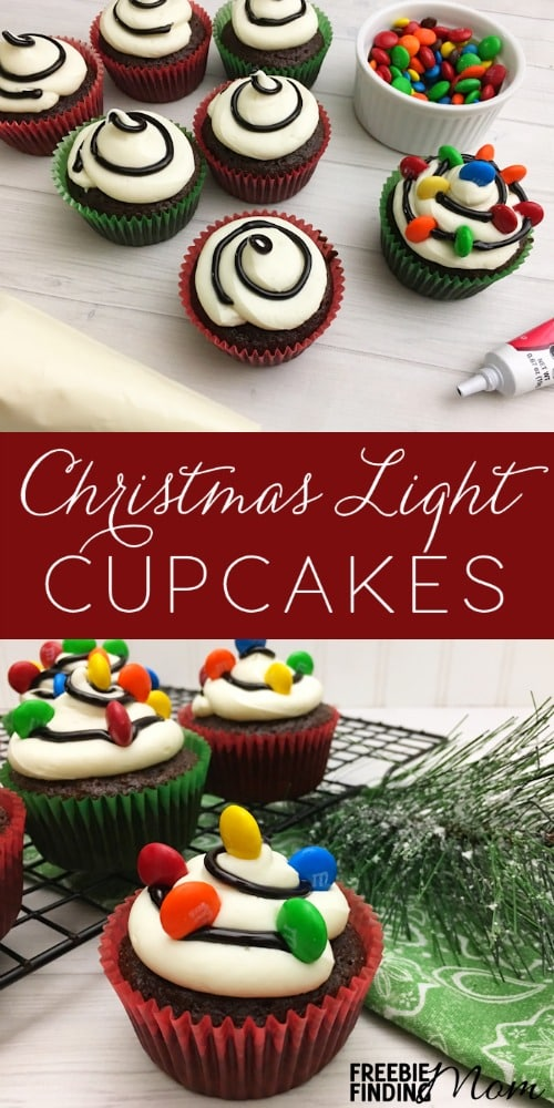 Christmas Cupcake Idea: Christmas Light Cupcakes