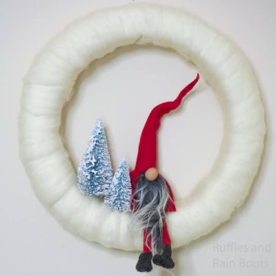 This Gorgeous Christmas Gnome Wreath is So Easy and Fun!
