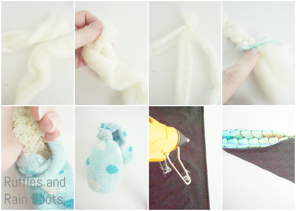 photo tutorial of how to make a gnome that looks like a mermaid