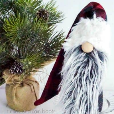 This Lumberjack Christmas Gnome is so Easy, You Can Make it in Minutes