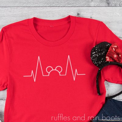 This Free Mickey Heartbeat SVG is Perfect for Nurses or Anyone Who Loves Disney!
