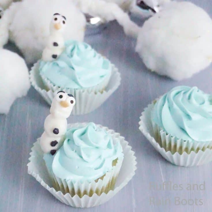 how to make cupcakes for a frozen party