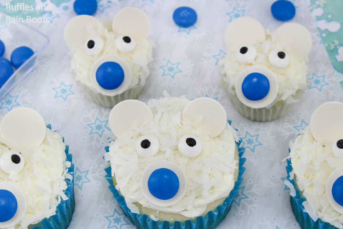 how to make winter cupcakes
