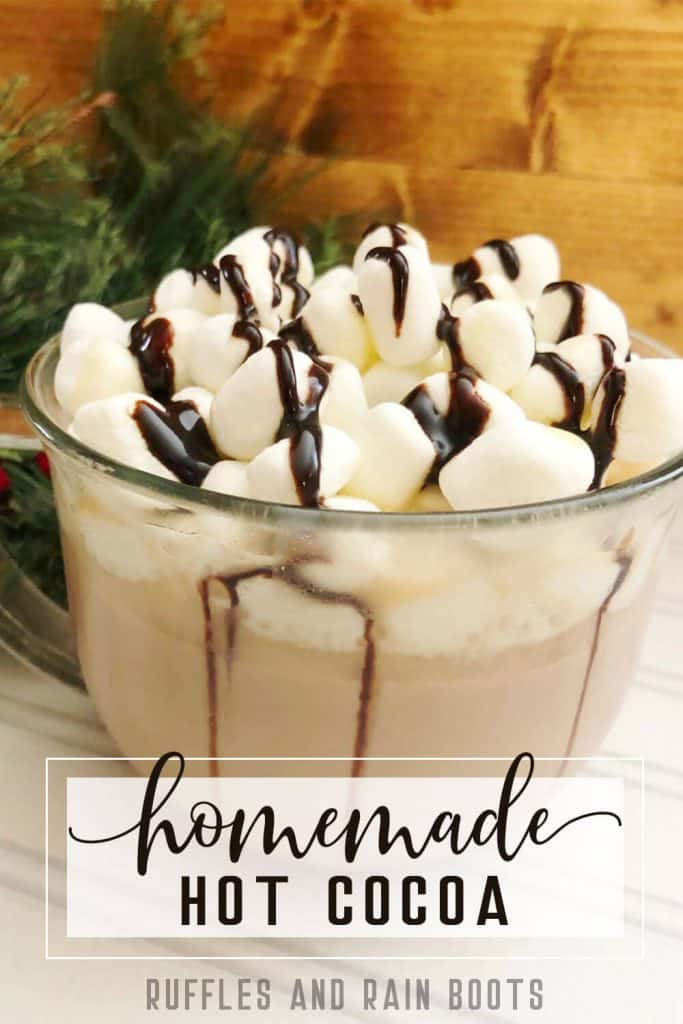 homemade hot chocolate kids can make with text which reads homemade hot cocoa