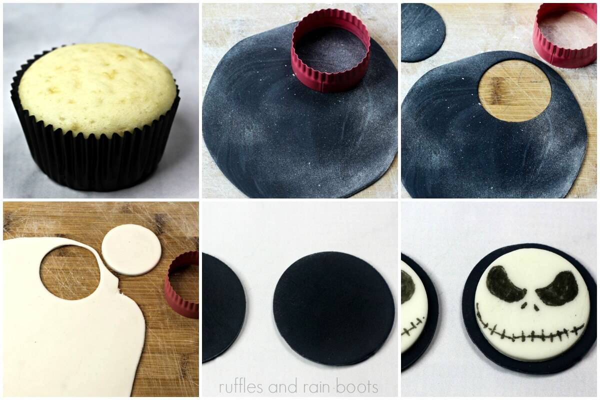 how to make Jack Skellington cupcakes from Nightmare Before Christmas