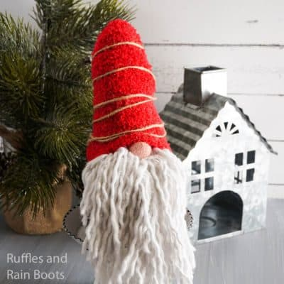 Make a Dollar Store Gnome with this Quick Tutorial!