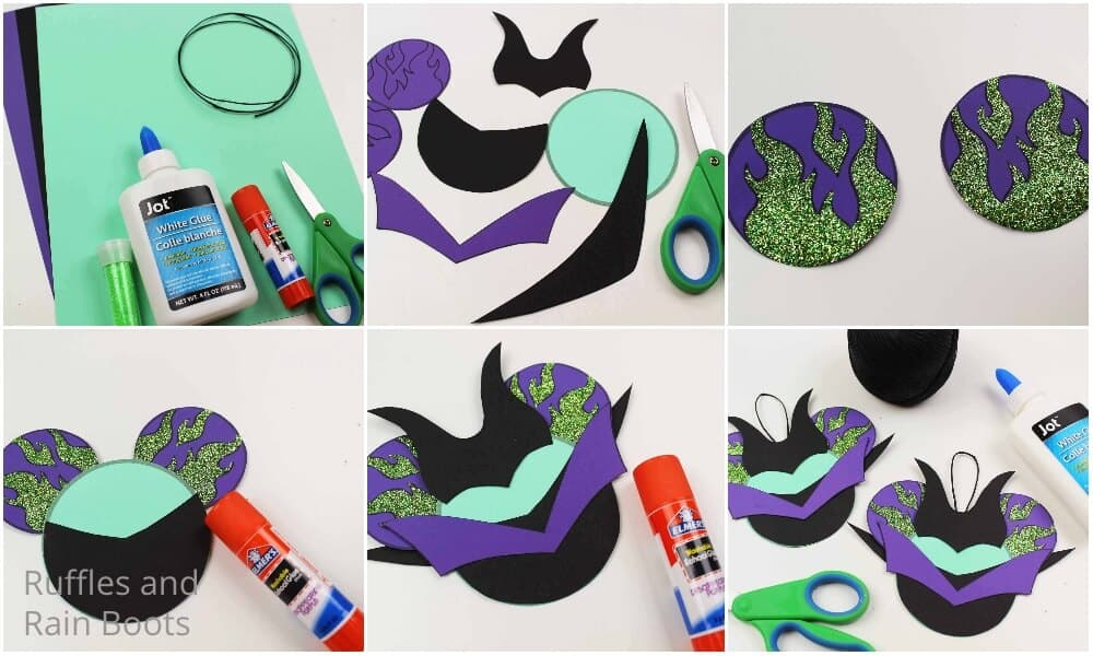 how to make a maleficent ornament for christmas