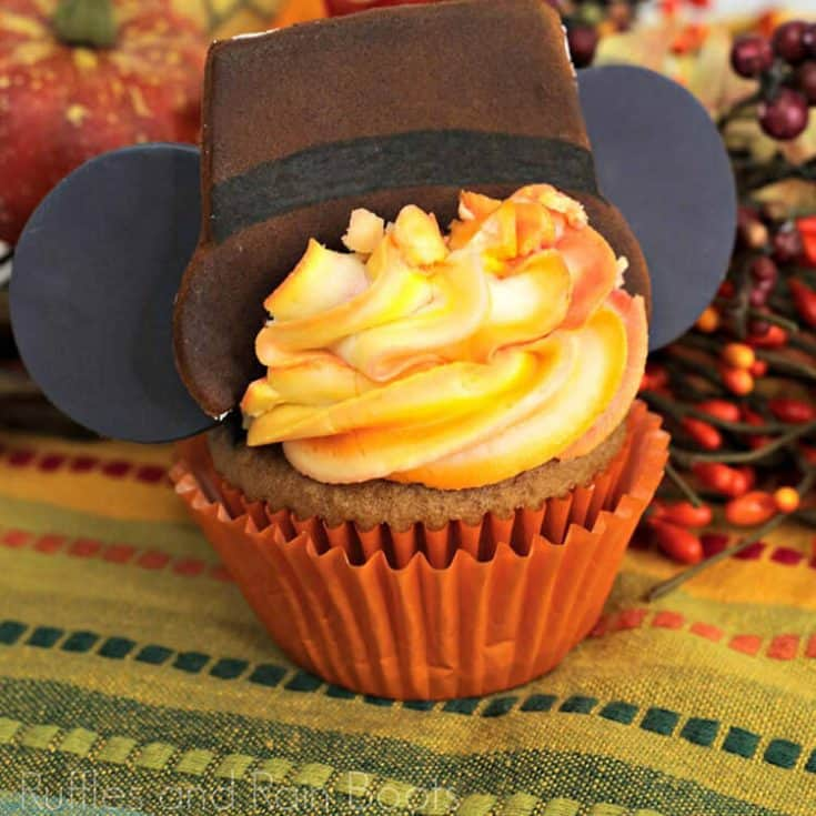 Thanksgiving Mickey Cupcakes