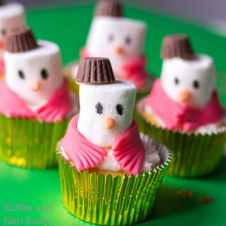 easy snowman cupcake recipe for christmas