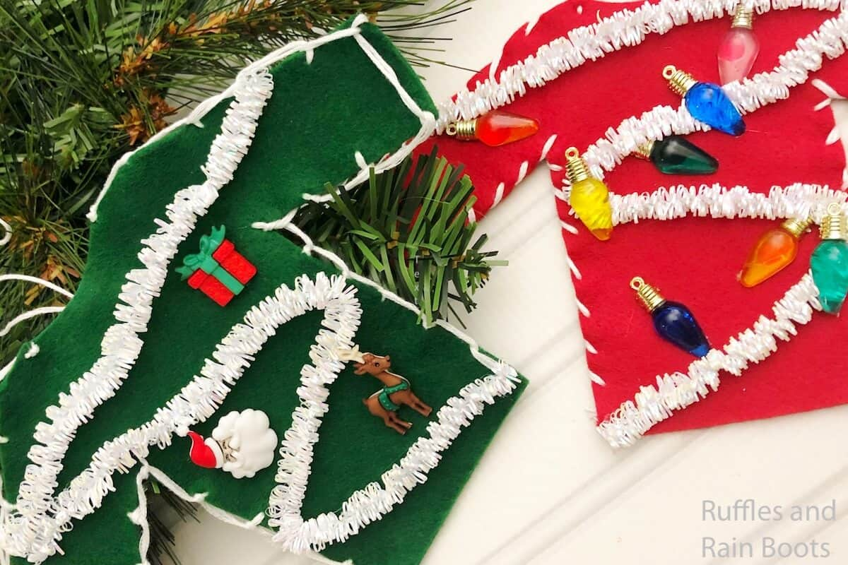 easy kid craft christmas sweater ornaments