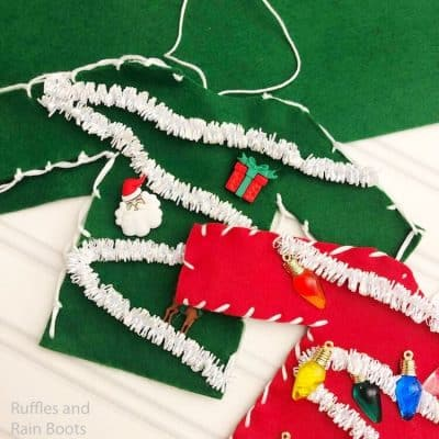 Ugly Christmas Sweater Ornament Kids Craft for Christmas