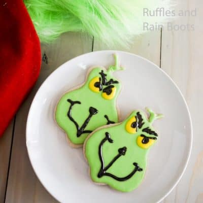 Grinch Cookies are the Easiest Flood Cookies for Grinchmas!