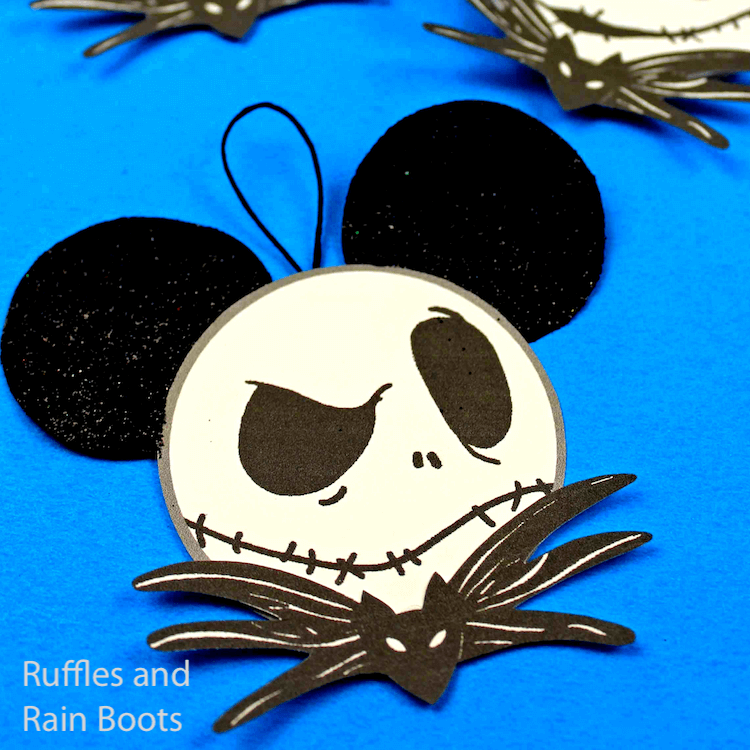 easy jack skellington ornaments with mickey ears