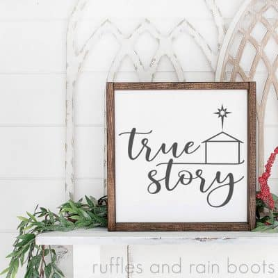 True Story SVG for Christmas Crafts and Decor