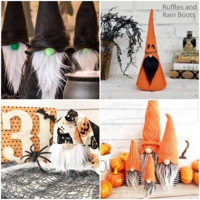 DIY Halloween Gnome Tutorials and Gnome Patterns
