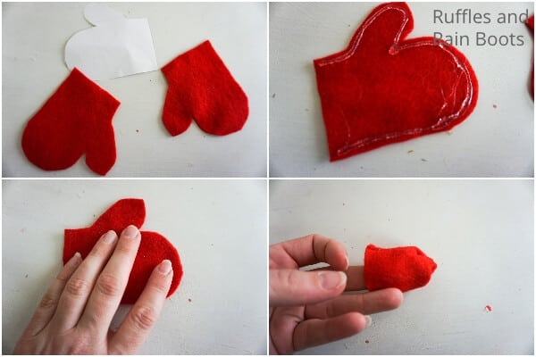 how to make a Christmas gnome ornament with a mitten