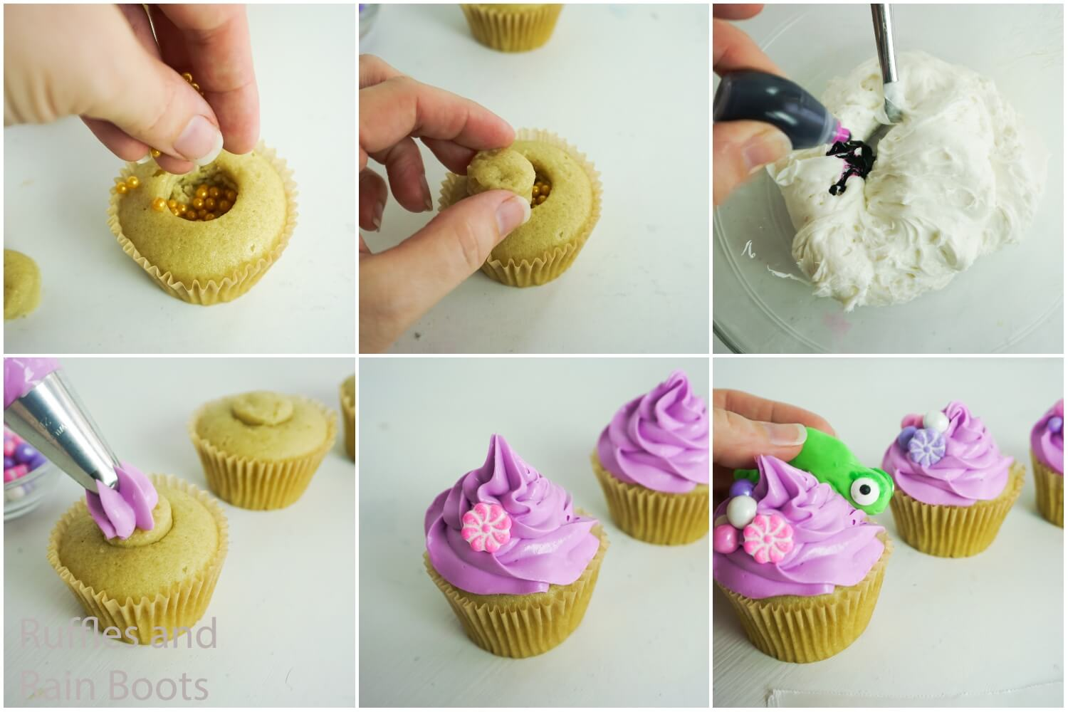 how to make tangled cupcakes for a rapunzel party