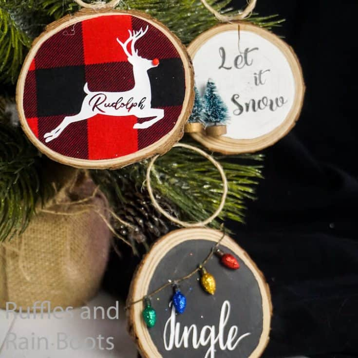 Wood Round Ornaments 3 Ways