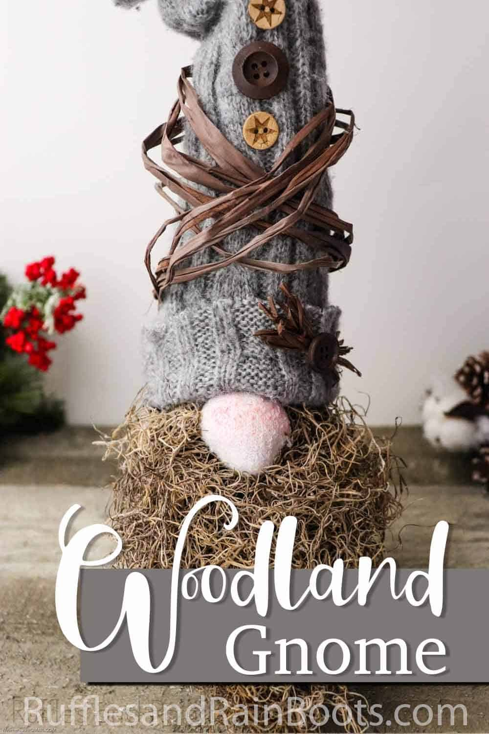 sweater sleeve gnome tutorial with text which reds woodland gnome