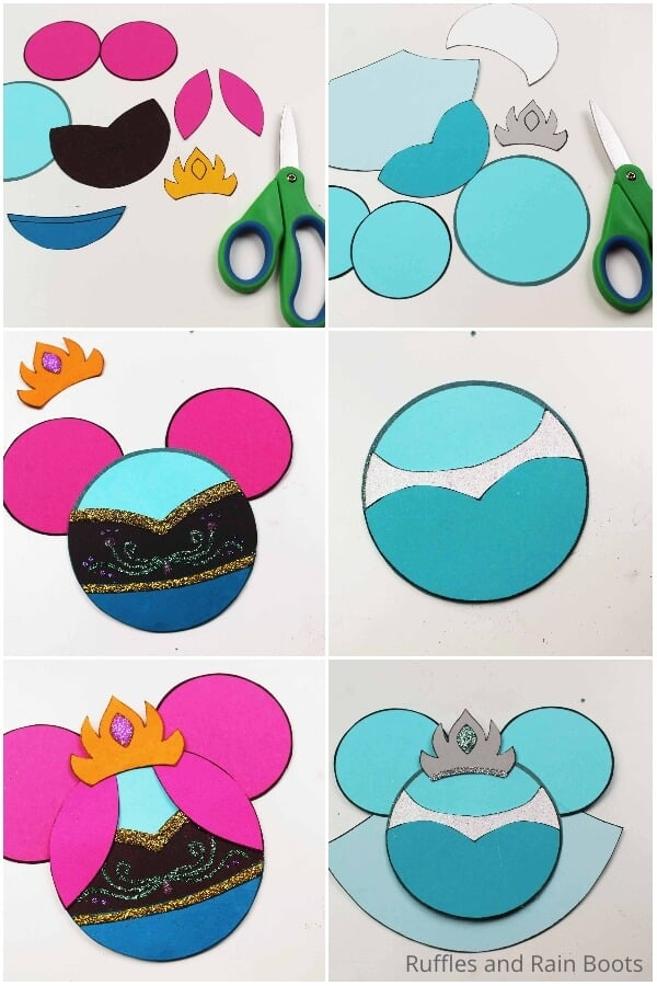 photo collage tutorial to make frozen ornaments