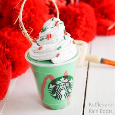 Make this Holiday Frappuccino Starbucks Ornament in Minutes!