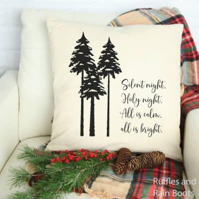 Silhouette Silent Night SVG for Christmas Crafts, Cards, and Decor
