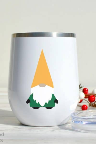 Mug Tumbler with free Christmas gnome SVG