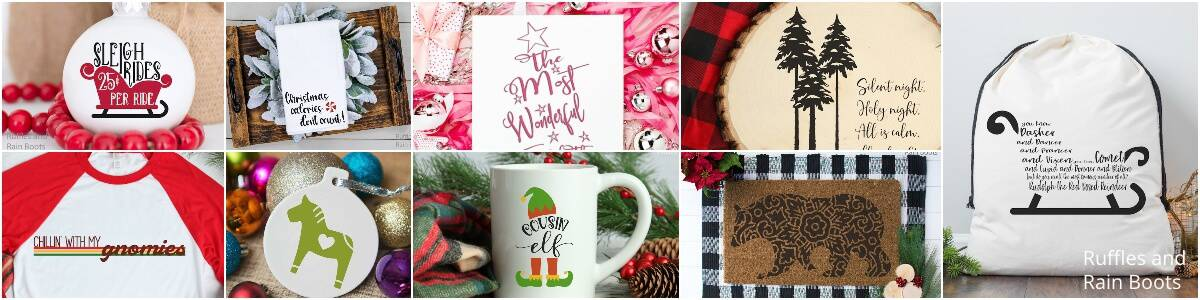 free Christmas svg for Cricut and Silhouette