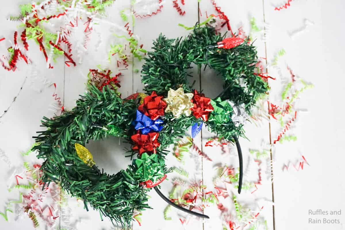 how to make mickey ears for christmas