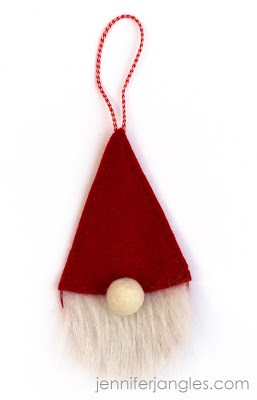 DIY Felt Gnome Ornament