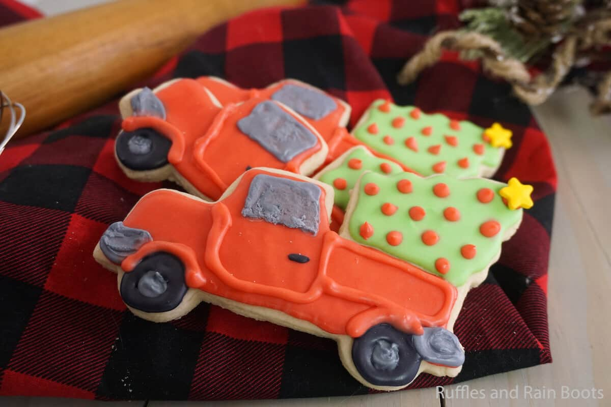 how to make easy christmas truck cookies