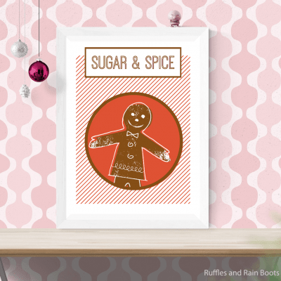 Free Printable Gingerbread Wall Art, Cards, Signs and Fun!