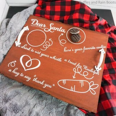 How to Make a DIY Santa Cookie Tray with Cut Files