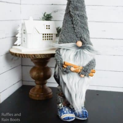 How to Make a Gnome with Boots – Styrofoam Cone Gnome