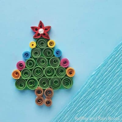 Easy Quilled Christmas Tree Craft for Kids