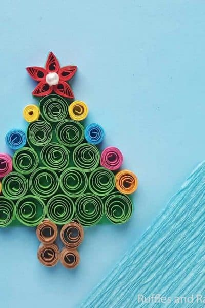 how to make a quilled christmas tree