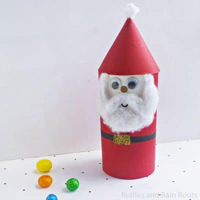 This Paper Tube Santa Craft for Kids is Too Cute!