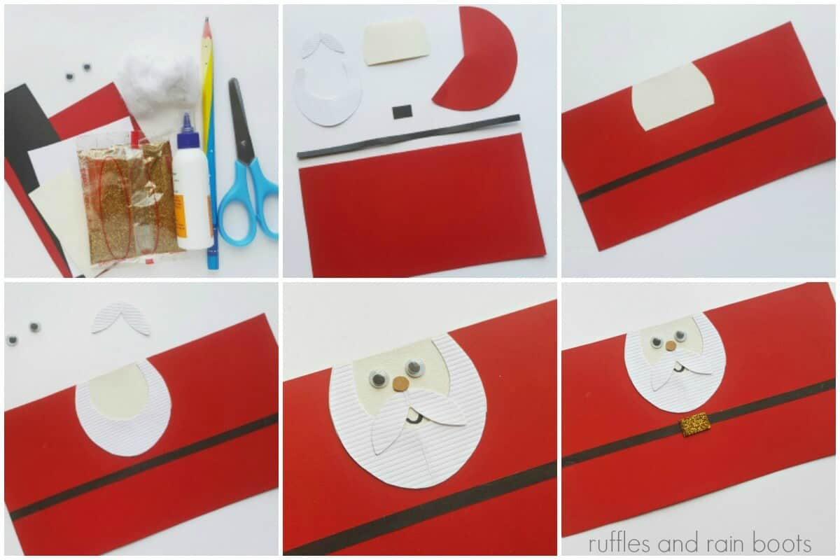 photo collage of How to make a Santa clause paper tube craft