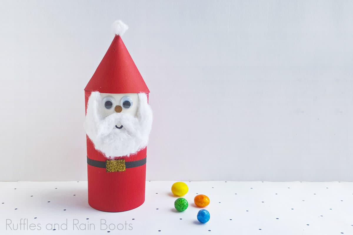how to make a santa claus with a paper tube