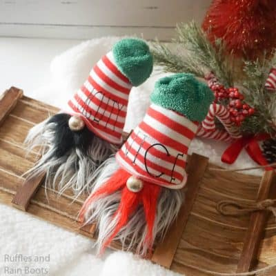 Naughty and Nice Gnomes – How to Make a Christmas Gnome